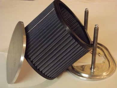 "OE Blue F2 type Oval Air Filter Complete 3"" Deep"